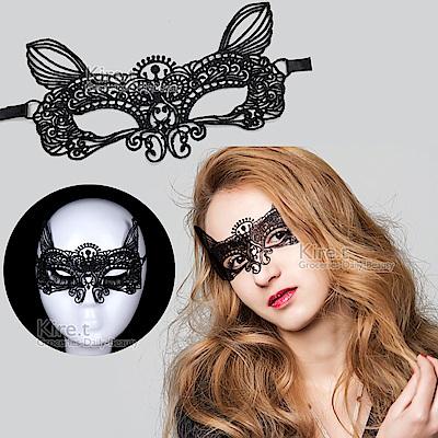 派對/化妝舞會面具 蕾絲眼罩面罩 鏤空後綁帶式-性感小貓款 kiret
