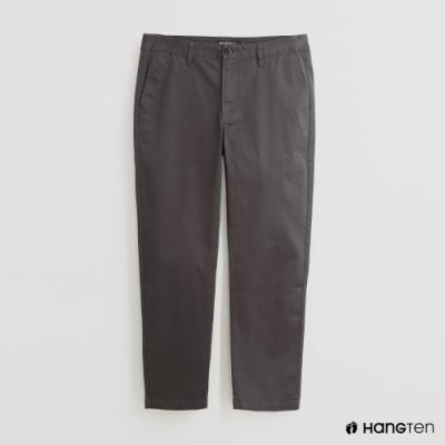 Hang Ten - 男裝 - 百搭純色修身休閒長褲 - 灰