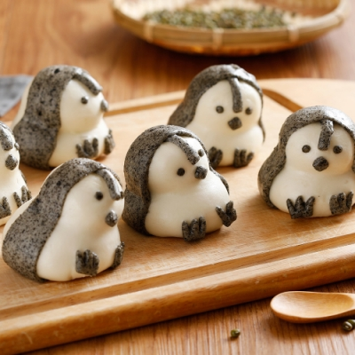 禎祥食品‧企鵝甜包(綠豆)(10粒/包,共三包)