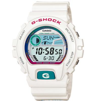 G-SHOCK 沙灘風情陽光型男休閒錶(GLX-6900-7)-白/50mm