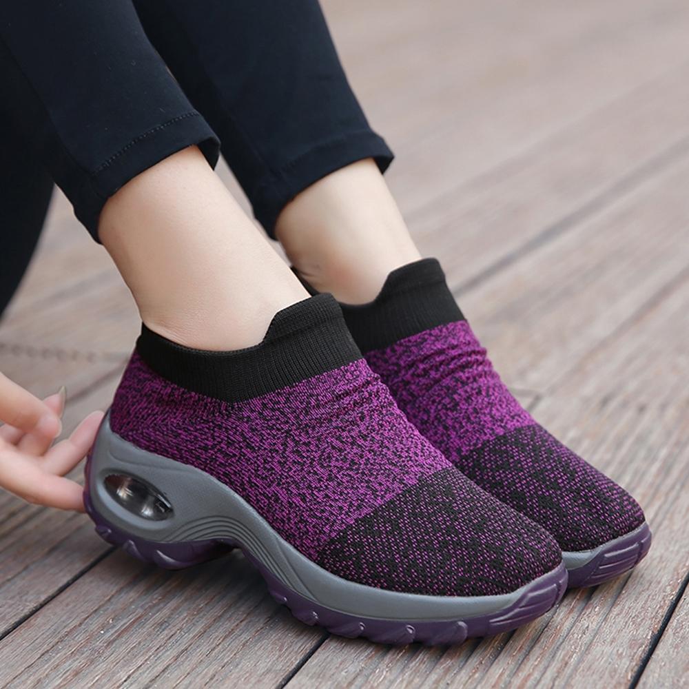 LN 現+預 飛織透氣好穿脫健走鞋-3色 (紫色)