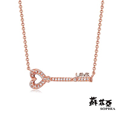 蘇菲亞SOPHIA 鑽石套鍊 - 心靈鑰匙 14K玫瑰金鑽石套鍊