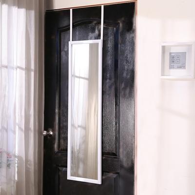 BuyJM 白烤漆鐵製門後掛鏡/壁鏡/穿衣鏡 寬30X高112公分