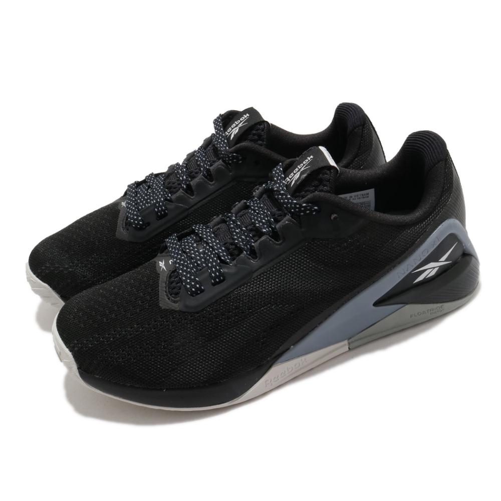 Reebok 訓練鞋 Nano X1 運動 女鞋 健身房 支撐 避震 穩定 球鞋 黑 灰 FX3251