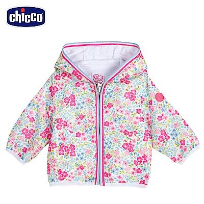 chicco-To Be Baby- 防風連帽外套-碎花