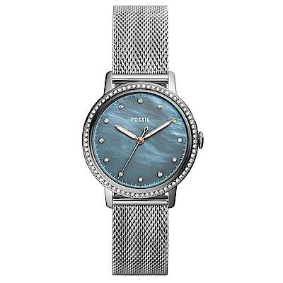 FOSSIL 海中珍珠閃耀錶框米蘭錶(ES4313)-33mm