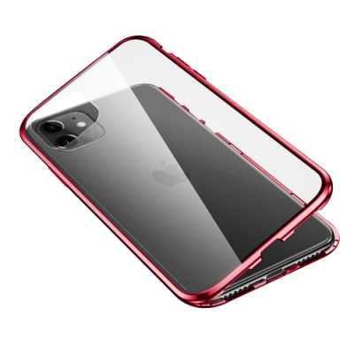 iPhone 11 360度全包 雙面磁吸鋼化玻璃 手機保護殼