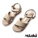 Miaki-涼鞋粉系百搭寬帶楔型鞋-米 product thumbnail 1
