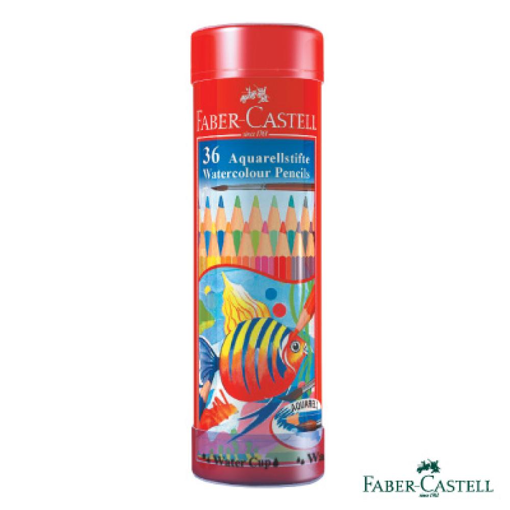 Faber-Castell紅色系水性彩色鉛筆-36色精緻棒棒筒裝