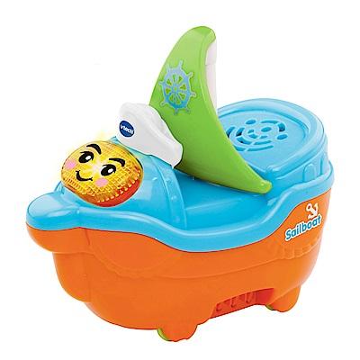 【Vtech】<b>2</b>合1嘟嘟戲水洗澡玩具系列-微笑帆船