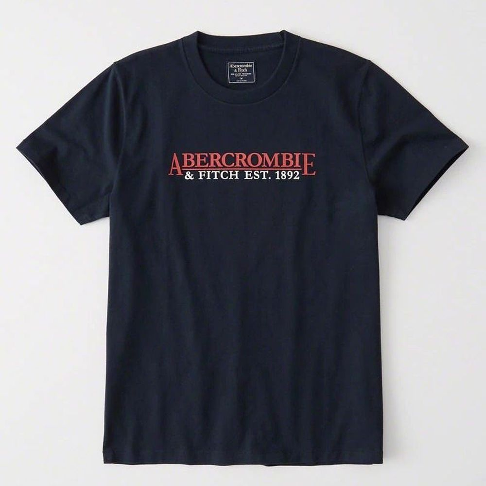 AF a&f Abercrombie & Fitch 短袖 T恤 藍 0839