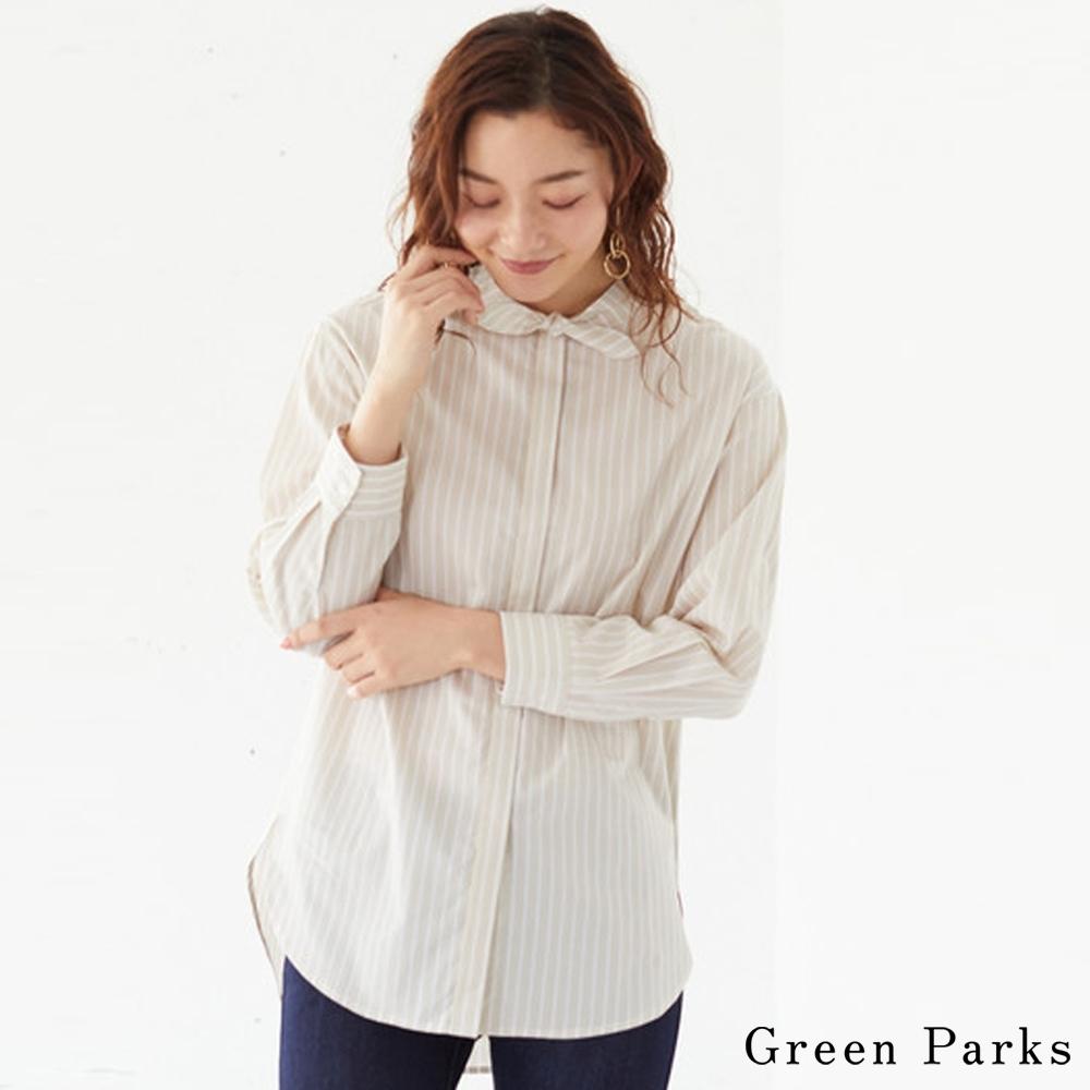Green Parks 可愛領結條紋襯衫上衣