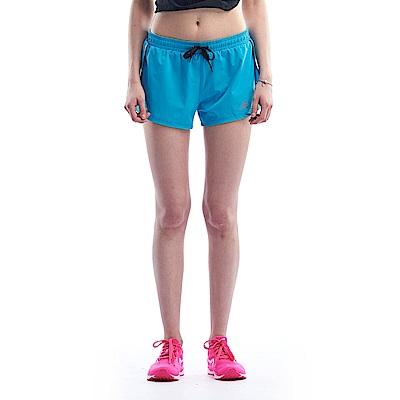 【ZEPRO】女子側邊開岔黑條運動跑褲-天空藍