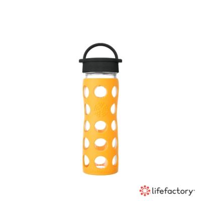 lifefactory 玻璃水瓶平口475ml-黃色(CLA-475-YLB)