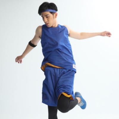【FIVE UP】雙面穿吸排籃球背心-中藍