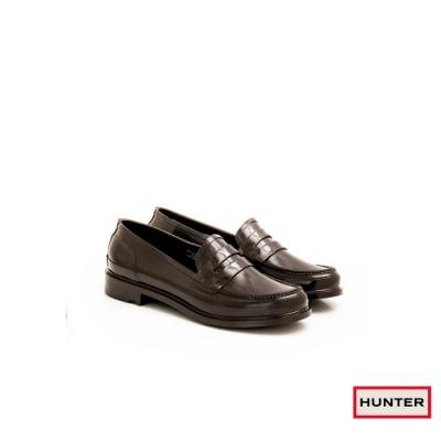 HUNTER - 女鞋-Refined亮面樂福休閒鞋 - 棕