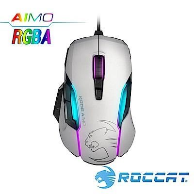 ROCCAT Kone-AIMO魔幻系列 艾摩版 RGBA電競滑鼠-白