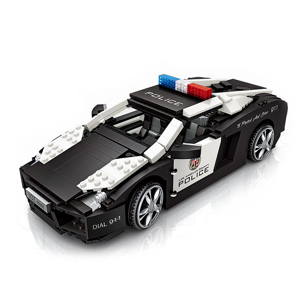 LOZ mini 鑽石積木-1113 警車