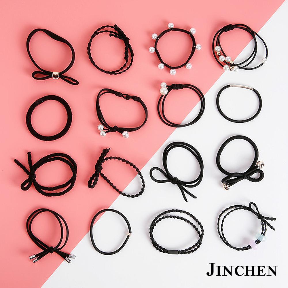 JINCHEN 韓版森林系女孩髮圈 髮繩 髮束16件組 product image 1