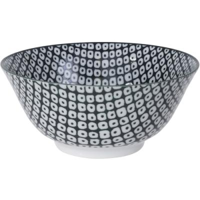 《Tokyo Design》瓷製餐碗(網紋黑15cm)