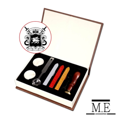 M.E 火漆封信蠟印章組豪華禮盒套裝(歐式徽章)