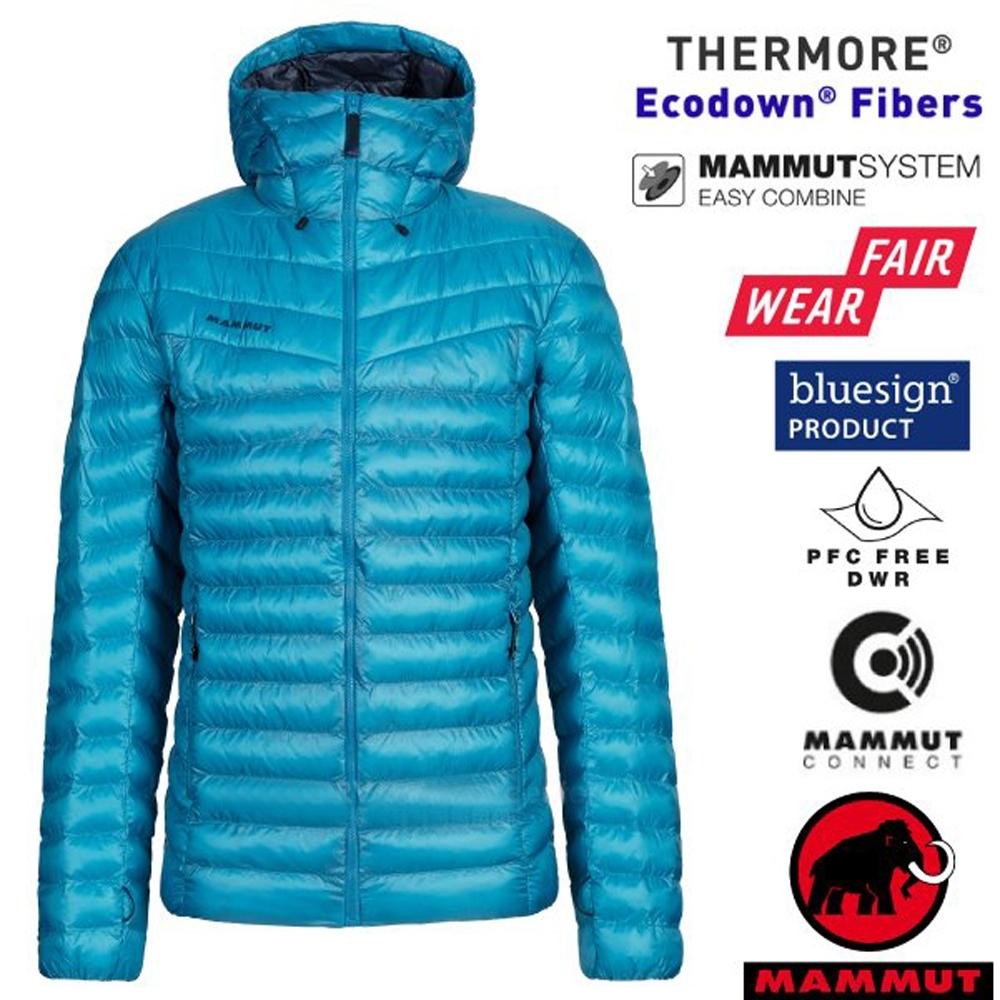 長毛象 男新款 Albula IN Hooded 輕量保暖防風連帽羽絨外套.夾克_藍寶石