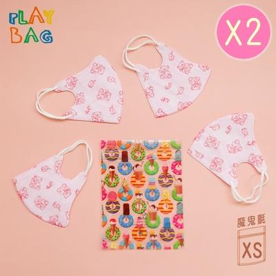 【PLAY BAG】魔鬼氈環保袋(迷你)10入 冰淇淋甜甜圈*2