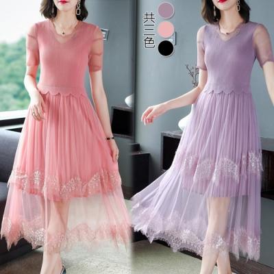 【KEITH-WILL】(預購) 復古少女流行三宅壓摺洋裝