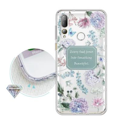 HTC Desire 19+ 浪漫彩繪 水鑽空壓氣墊手機殼(幸福時刻)