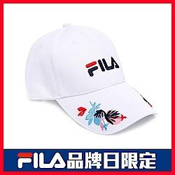 FILA 經典款六片帽-黑 HTU-5000-BK