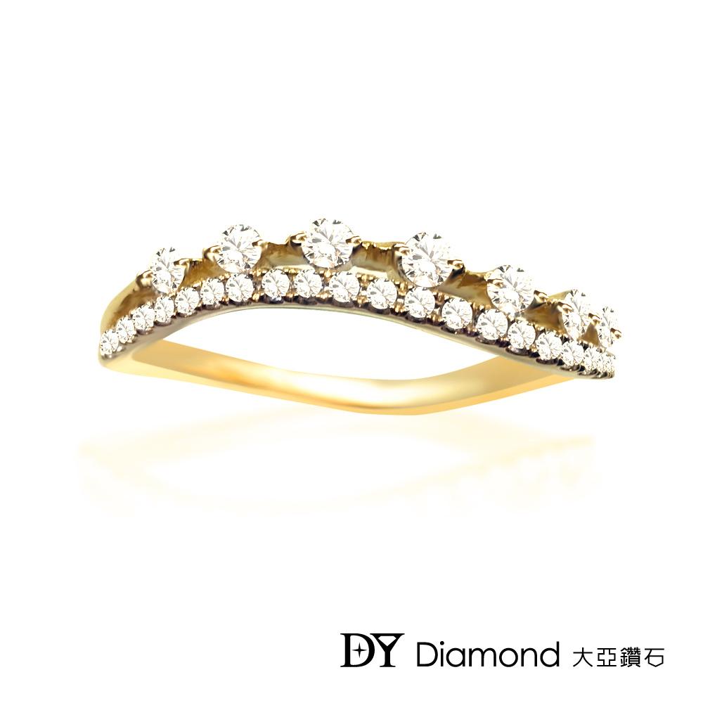 DY Diamond 大亞鑽石  L.Y.A輕珠寶 18K黃金 輕奢 鑽石線戒