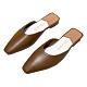 KEITH-WILL時尚鞋館 簡約慵懶風小方頭晴雨可穿穆勒鞋-棕 product thumbnail 2