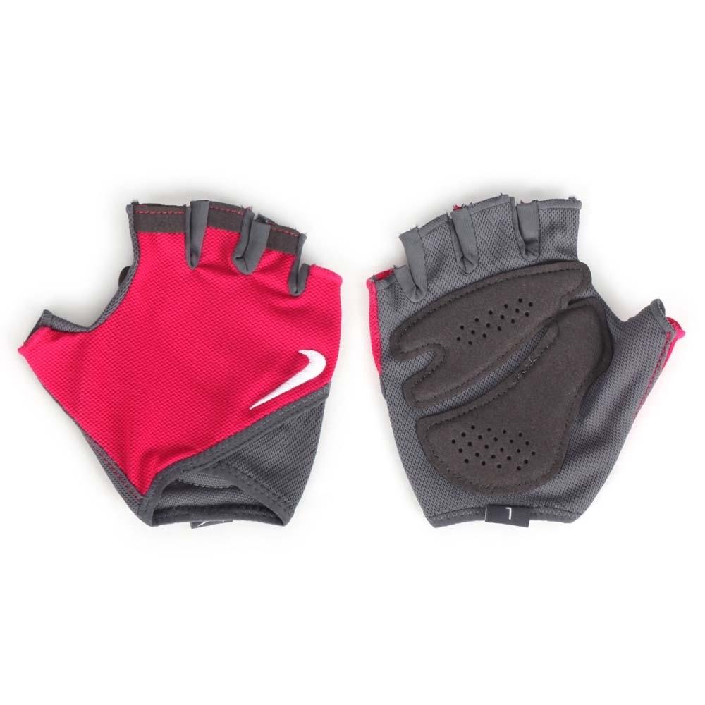 NIKE 女基礎訓練手套-短指手套 重訓 健身 硬舉 舉重 蹲舉 抓舉 N0002557628LG 桃紅灰白