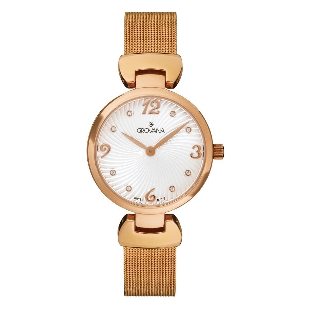 (福利品) GROVANA瑞士錶 Lifestyle系列石英女錶(4485.1162)-白面x玫瑰金米蘭帶/32mm