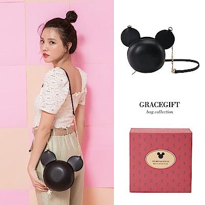 Disney collection by Gracegift米奇立體鍊條包 黑