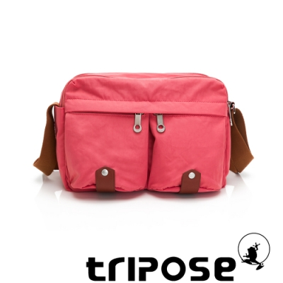 tripose MOVE系列多格層機能斜背包 晨曦紅