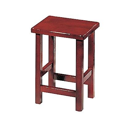 Bernice-羅木紅小椅凳/板凳-35x26x48cm