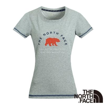 The North Face 女 休閒短袖T恤 灰-NF0A3CIZDYX