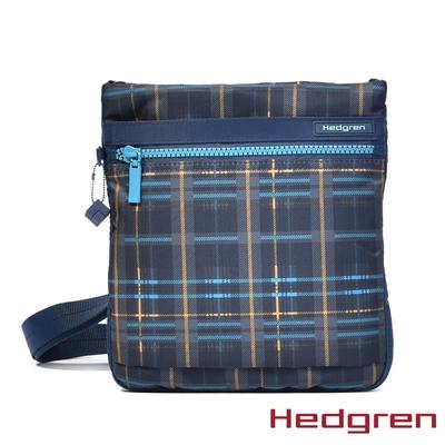 Hedgren INNER CITY輕量隨身 側背包 格紋藍