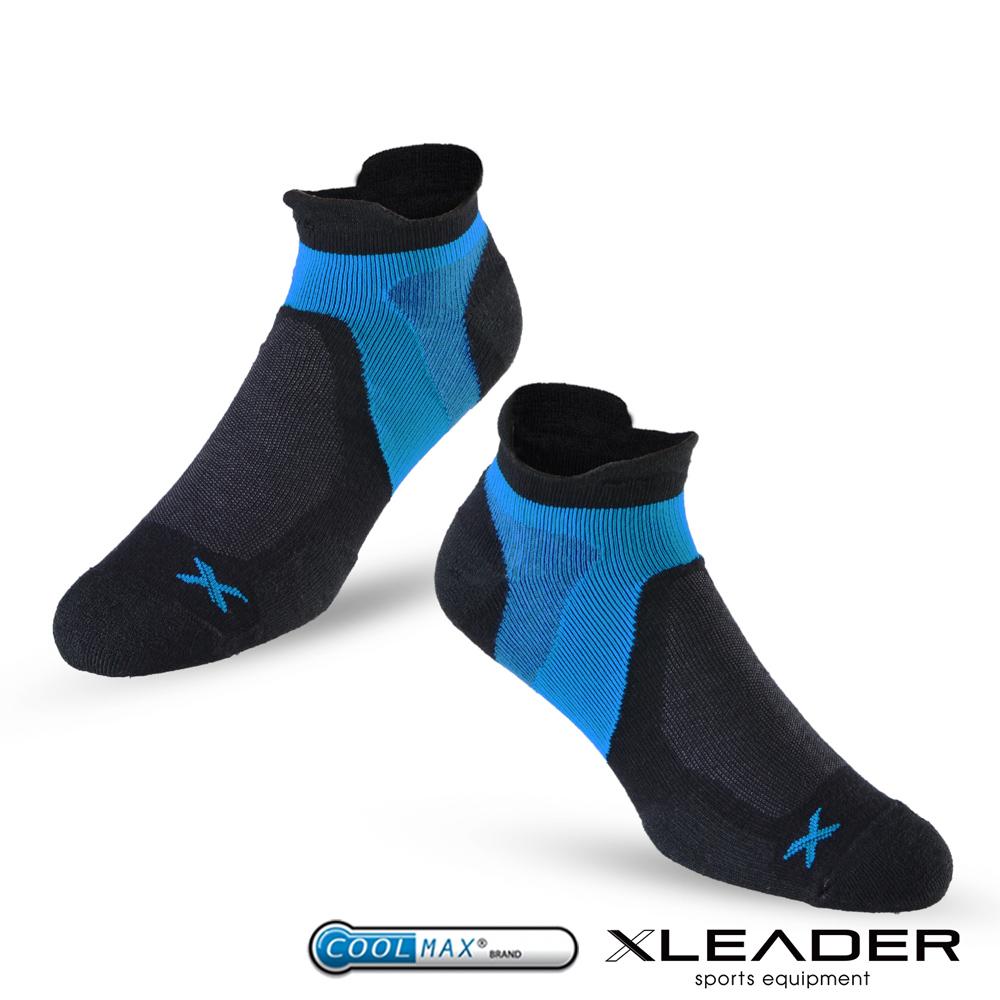LEADER ST-02 X型繃帶加厚耐磨避震短襪除臭運動襪 男款 黑藍