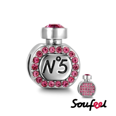 SOUFEEL索菲爾 925純銀珠飾  粉色邂逅 串珠
