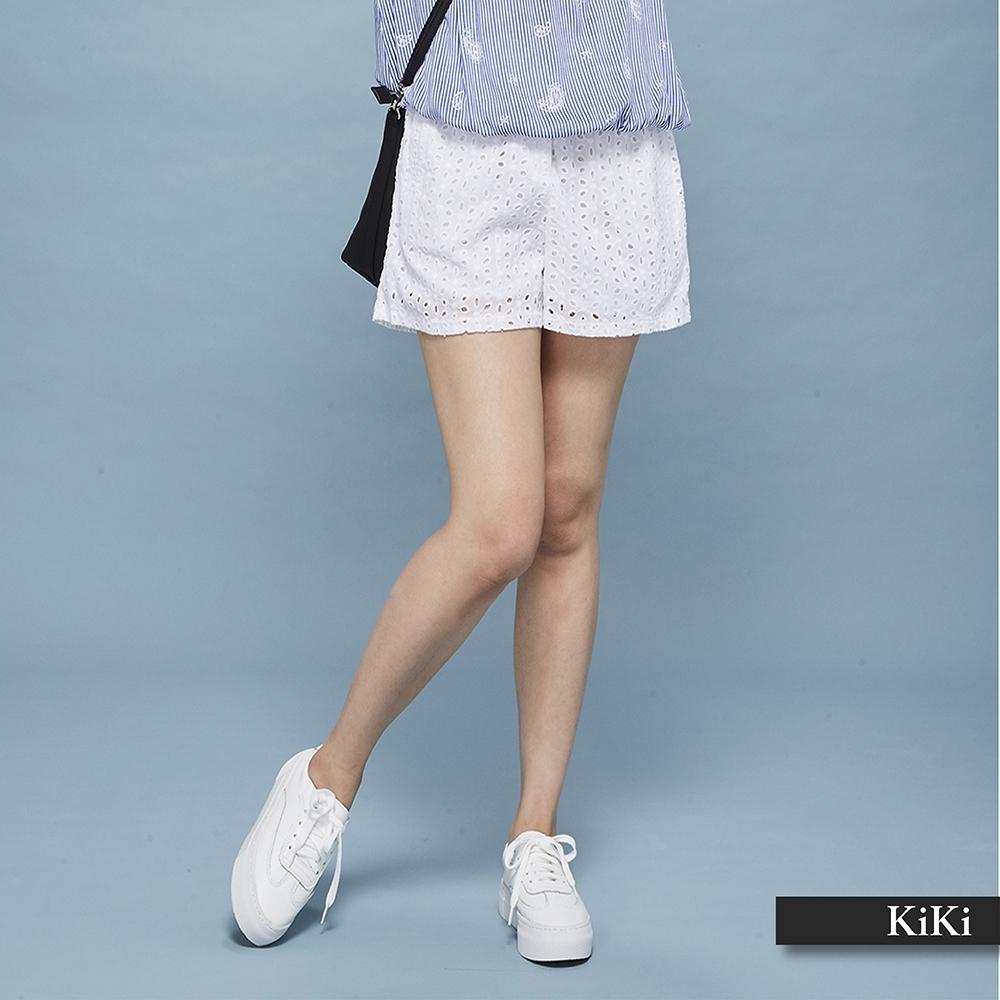 【KiKi】法式浪漫蕾絲-短褲(二色)