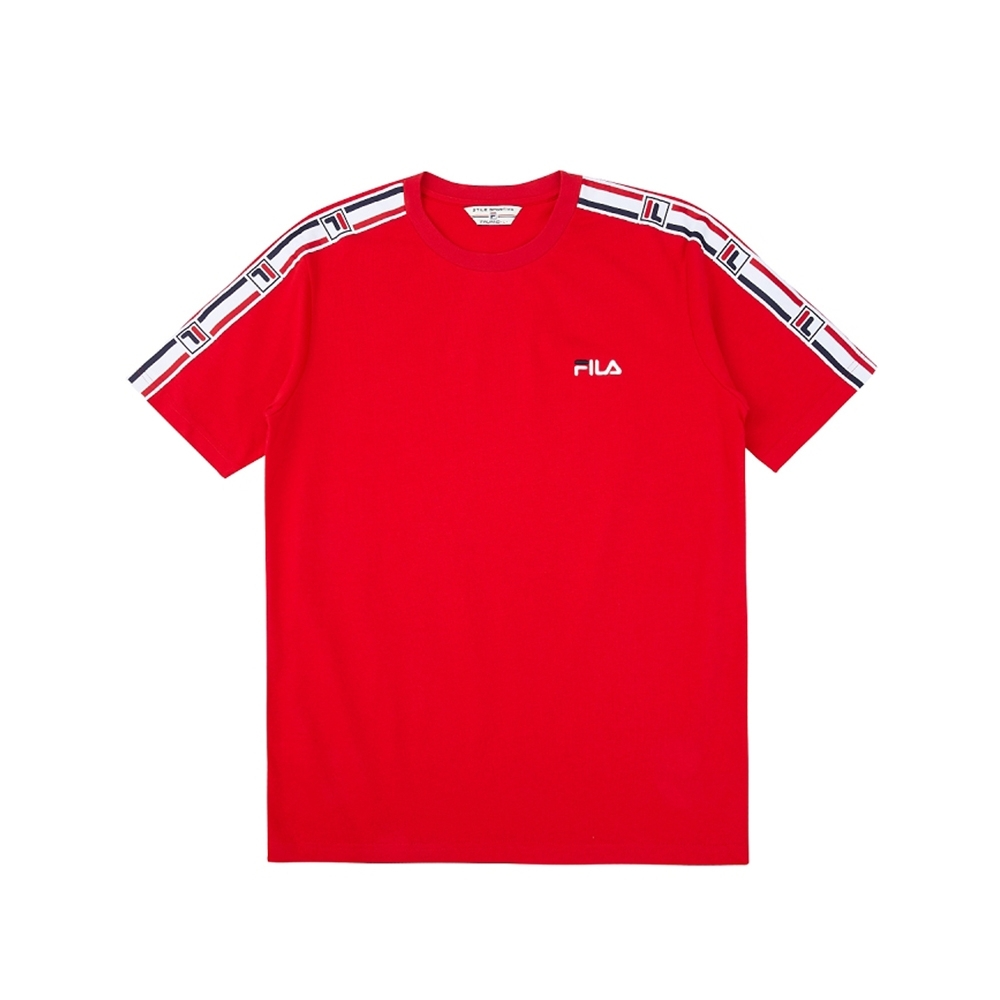 FILA #架勢新潮 短袖圓領T恤-紅色 1TEV-1417-RD