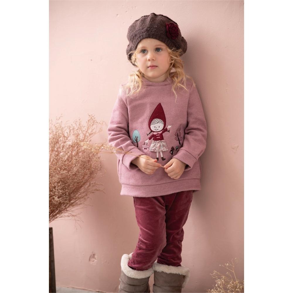 PIPPY 森林小紅帽針織上衣 粉紅