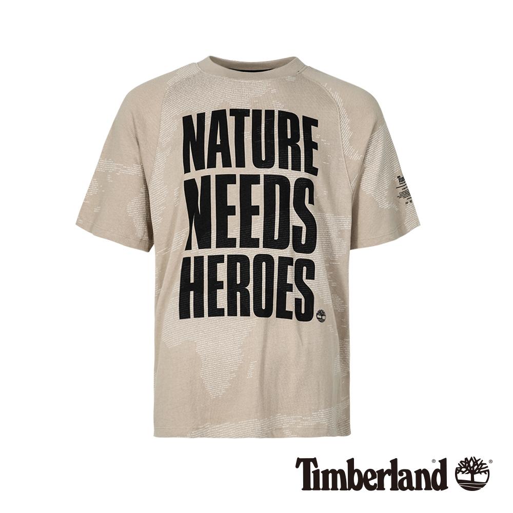 Timberland 男款山羊絨色寬鬆剪裁標語短袖T恤|A1X4W
