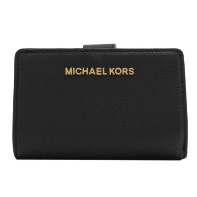 MICHAEL KORS Jet Set 金屬LOGO零錢中夾(黑)