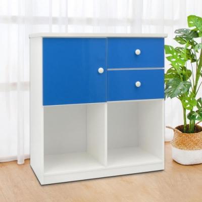 Boden-2.8尺一門二抽開放式塑鋼收納櫃(五色可選)-84x43x92cm