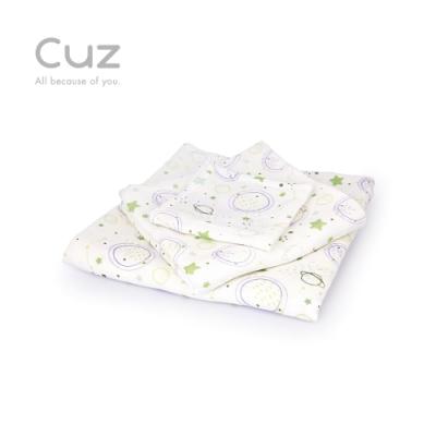 【Cuz】銀河連連看(防皺紗布巾/方巾/嬰兒包巾)-115cm