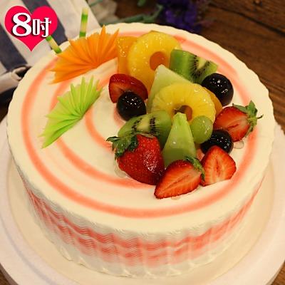 波呢歐 酸甜草莓雙餡鮮奶蛋糕(8吋)