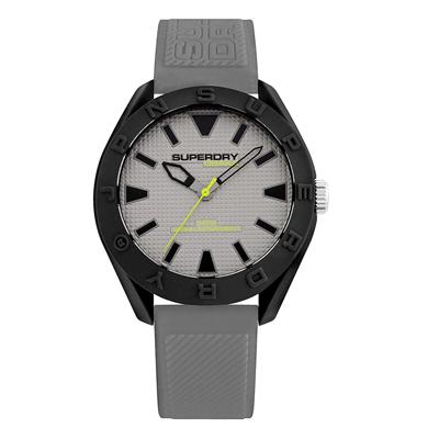 Superdry極度乾燥  街頭潮流運動矽膠腕錶-灰(SYG243EE)